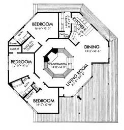 Octagon Cabin Plans three bedroom octagonal home