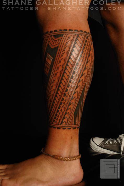 tribal tattoos calf muscle shane tattoos polynesian calf tatau cool