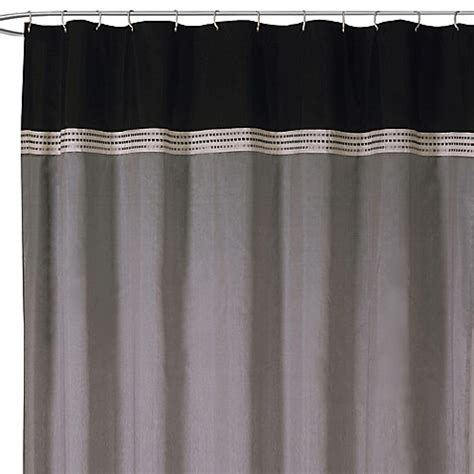 black and silver curtains terra black and silver fabric shower curtain bed bath