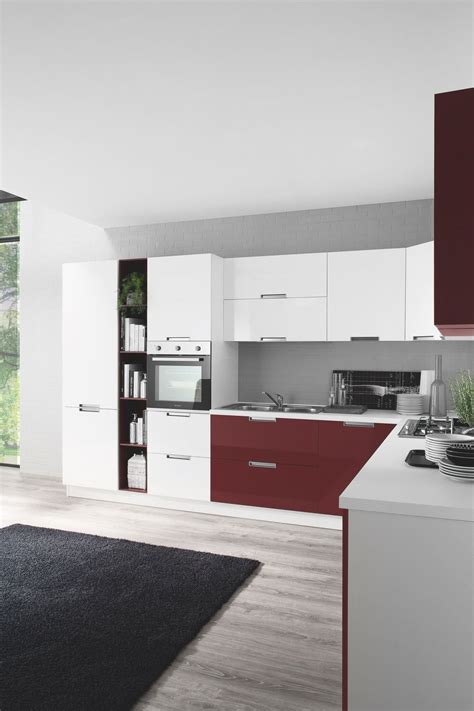 cucine lucide cucina moderna smile con finiture opache legno e lucide