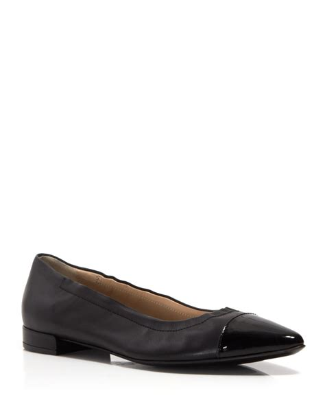 agl shoes agl attilio giusti leombruni pointed flats cap toe in