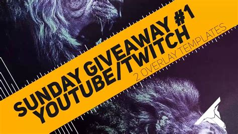 How To Use Twitch Giveaways - new series giveaway sunday youtube twitch overlay template psd youtube