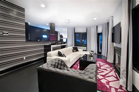black and pink living room black and white contemporary living room photos hgtv