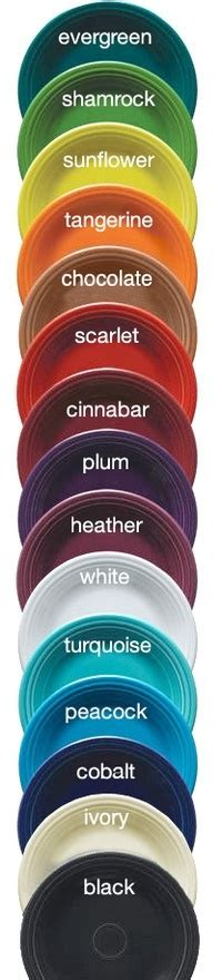 fiestaware colors different colors of ware for the home