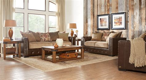 Decor Ideas For Living Room With Brown Leather Furniture - beige brown white living room furniture decorating ideas