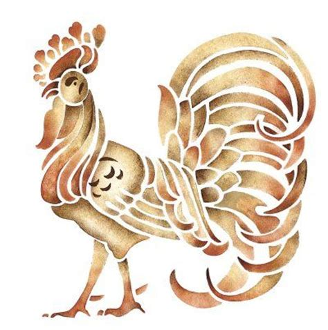 printable rooster stencils 1000 images about stencil on pinterest willow tree