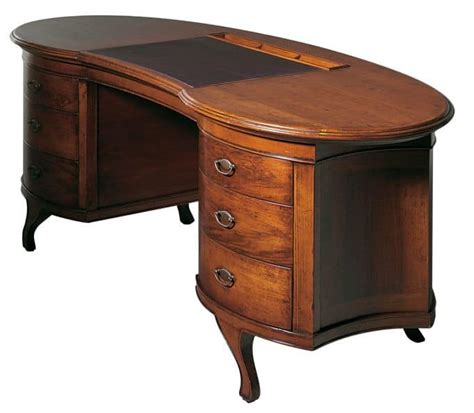 scrivanie di lusso scrivania in noce a forma di fagiolo per uffici eleganti