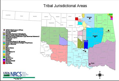 map of american tribes in oklahoma liaisons to tribes nrcs oklahoma