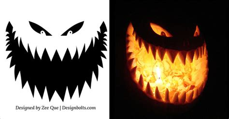 10 free scary halloween pumpkin carving patterns stencils ideas 2015 printable templates