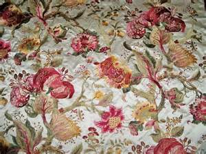 Drapery Fabric By The Yard Pierre Frey Braquenie Jacobean Beaumesnil Embroidered Silk