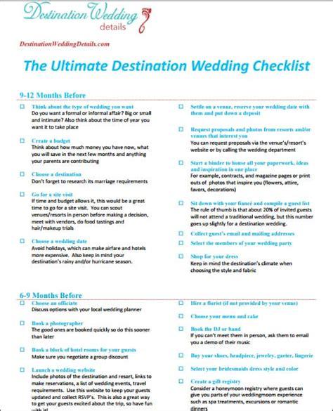 Untitled Checklist For Destination Wedding Destination Wedding Website Template