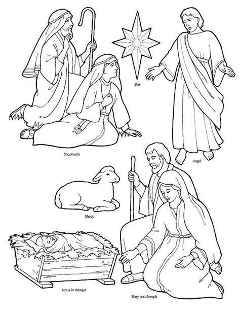 printable nativity scene cutouts printable nativity coloring page to cut out and make your