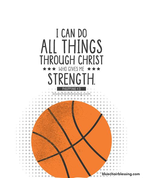 Kids Room Designs i can do all things basketball sports scripture art print