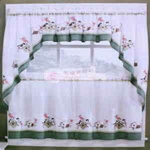 Cotton Kitchen Curtains Rustic Embroidery Cotton Kitchen Curtain Coffee Curtain Rural Valance Handmade Curtain