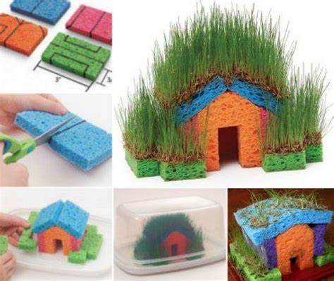 lilbrownhouse diy and crafts diy grass house kid s project to make a sponge