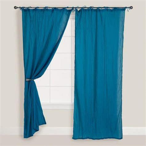 ocean blue curtains ocean blue crinkle voile curtain world market