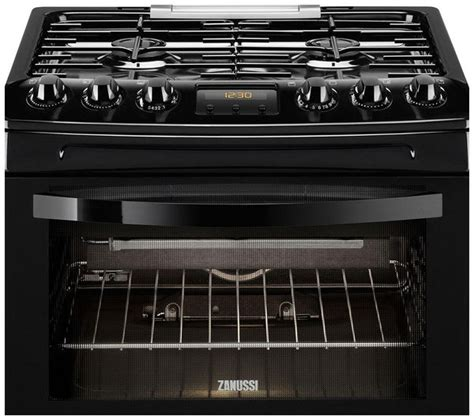 Dapur Gas Oven Zanussi buy zanussi zcg43330ba gas cooker black free delivery currys