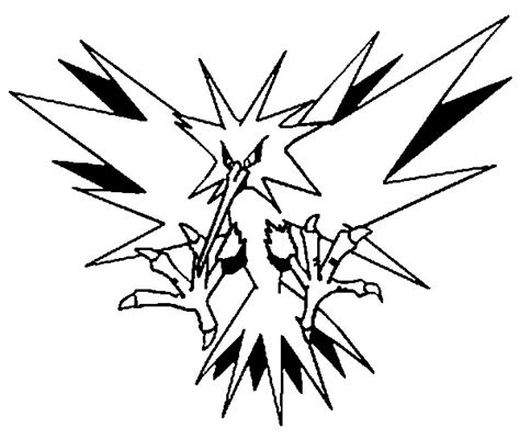 pokemon zapdos coloring pages coloring pages pokemon zapdos drawings pokemon