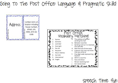 Post Office Definition by Going To A Post Office Language Pragmatic Skills And