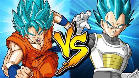 imagenes de goku dios y vegeta batallas epicas goku vs vegeta ssj dios youtube