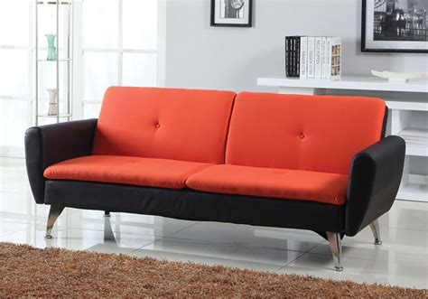 Orange Futons by Kimber Accent Living Room Adjustable Sofa Bed Sleeper