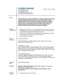 Resume Student Sle by Jobresumeweb College Student Resume Exles Resume Builder Resume Templates