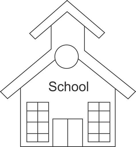 School Outline Template School House Md Free Images At Clker Com Vector Clip Art Online Royalty Free Public Domain