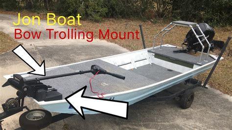 bow boat mount jon boat bow trolling mount youtube