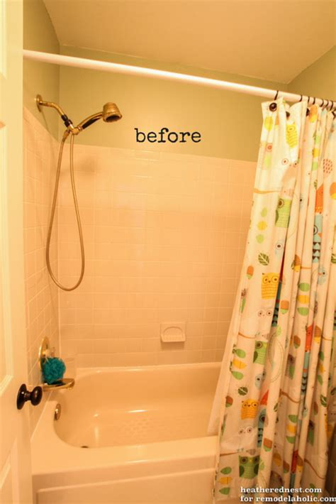 cost of re tiling a bathroom remodelaholic how to update a tile shower tub in a weekend