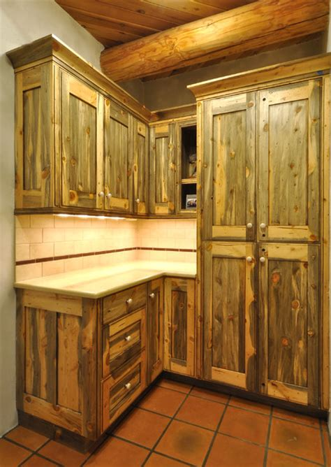 rustic pine kitchen cabinets colorado beetle kill pine kitchen rustic denver by