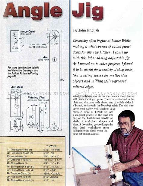 table saw angle jig table saw angle jig plans woodarchivist