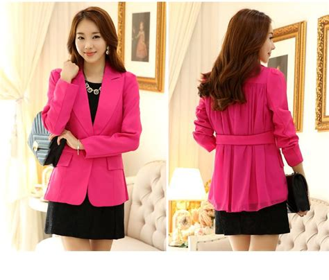 Blazzer Cewe blazer wanita korea unique blazer j9820rose coat