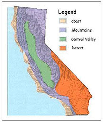 california regions map key slezingerworld september 2013