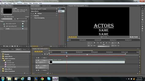 Adobe Premiere Credits Template rolling credits tutorial adobe premiere pro