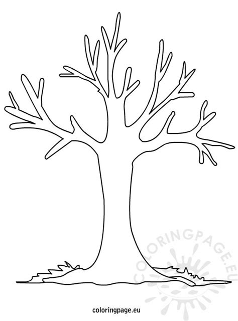 Fall Tree Coloring Page autumn tree coloring pages printable