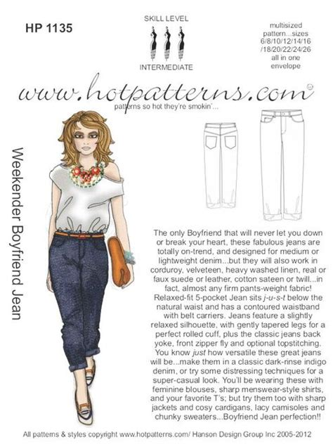 hot pattern jeans hp 1135 letter download weekender boyfriend jeans