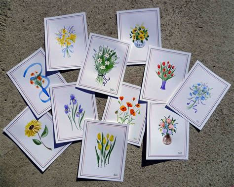 Handmade Watercolor Cards - irina sztukowski original watercolor