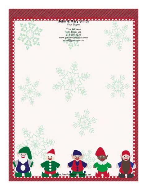 free printable elf border elf collection plaid border stationery