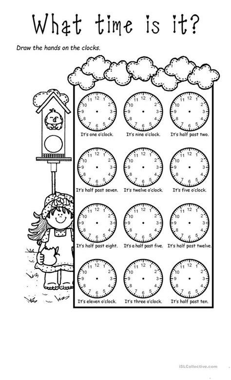 Telling the time worksheet - Free ESL printable worksheets