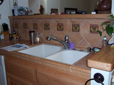 mexican tile kitchen backsplash home design and decor