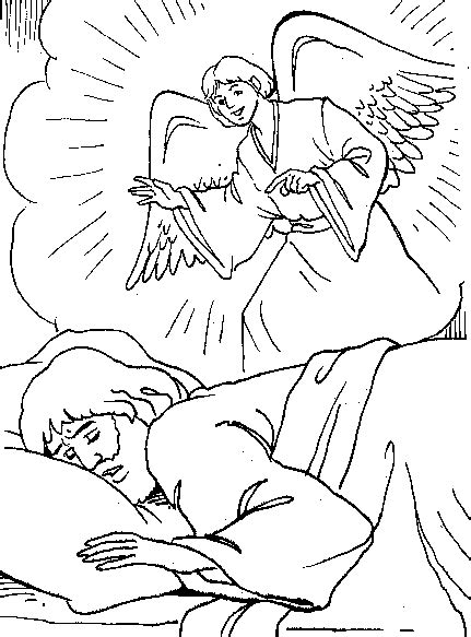 free coloring pages of angel visits christ angel para calcar imagui