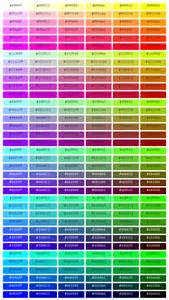 html color list css color codes list