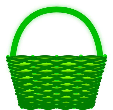 clipart basket green basket clip at clker vector clip