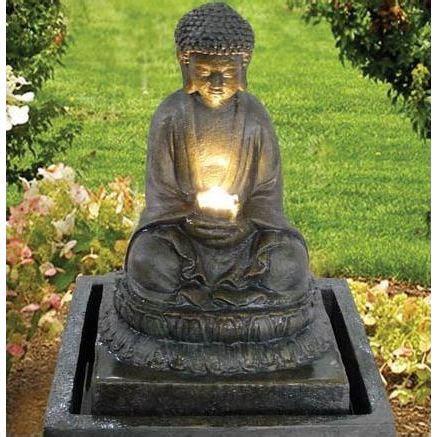terrasse zen avec bouddha fontaine bouddha illumination achat vente fontaine de