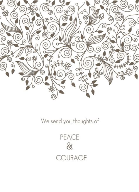 greeting card template sympathy free 6 best images of printable coloring sympathy card