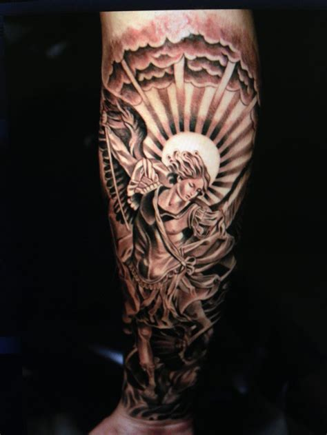 archangel michael tattoo st michael tattoos