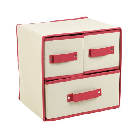 Collapsible Drawer Organizer by Collapsible Fabric 3 Drawer Storage Boxes Containers Bits