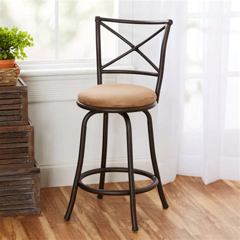 bar stools with backs walmart amherst swivel barstool chagne walmart