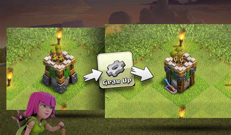 clash of clans what is builder boat clash of clans new gear up feature one archer tower two