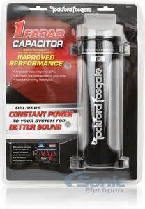 rockford 1 farad capacitor rockford fosgate rfc1 1 0 farad car cap capacitor